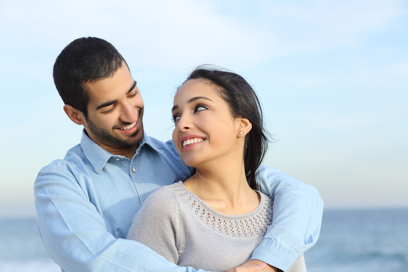 Couple who are happier after seeking help from a therapist
